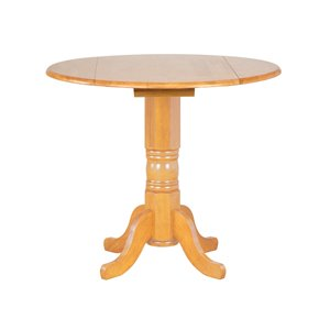 Sunset Trading Round Pub Table - 42-in - Light Oak