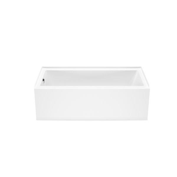 Baignoire alcôve en acrylique Bosca par MAAX avec drain à gauche, 60 x 32 po, blanc