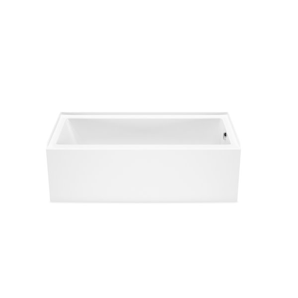 MAAX Bosca AFR Alcove Acrylic Bathtub with Right Drain - 60-in x 32-in - White