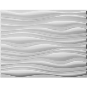 Dundee Decor Falkirk Fifer Abstract Dune 3D Wall Panel - 2.6-ft x 2.1-ft - Off-White - 10-Pack