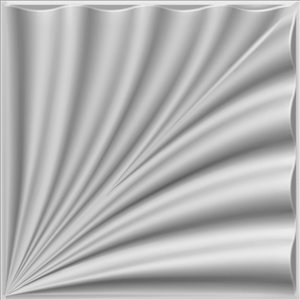 Dundee Decor Falkirk Fifer Abstract Eruption 3D Wall Panel - 1.6-ft x 1.6-ft - Off-White - 10-Pack
