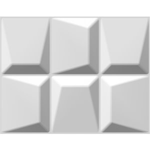 Dundee Decor Falkirk Fifer Abstract Stones 3D Wall Panel - 2.6-ft x 2.1-ft - Off-White - 5-Pack