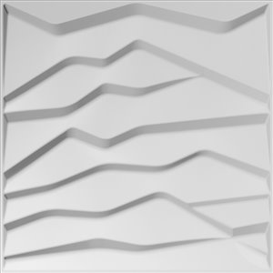 Dundee Decor Falkirk Fifer Abstract Hills 3D Wall Panel - 1.6-ft x 1.6-ft - Off-White - 10-Pack