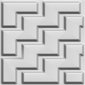 Dundee Decor Falkirk Fifer Chevron Zigzag 3D Wall Panel - 1.6-ft x 1.6-ft - Off-White - 5-Pack