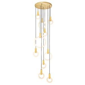 CWI Lighting Anello LED Pendant Light - 32-in - White Oak