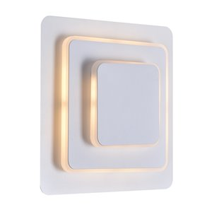 CWI Lighting Private I LED Wall Sconce - 9-in - Matte White