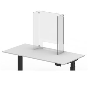 Luxor Reclaim Acrylic Freestanding Counter Sneeze Guard - 24-in x 30-in - Clear