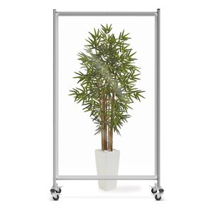 Luxor Mobile Acrylic Room Divider and Sneeze Guard - Clear