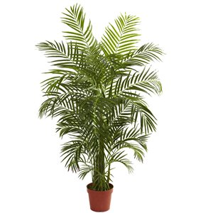 Nearly Natural Areca Palm Tree - UV Resistant - 4.5-ft - Green