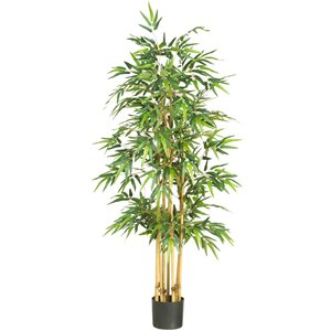 Nearly Natural Bamboo Silk Tree - 64-in - Green