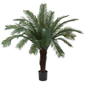 Nearly Natural Cycas Tree -  Indoor/Outdoor - 5-ft - Green