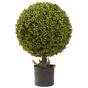 Nearly Natural Boxwood Ball Topiary - 27-in - Green
