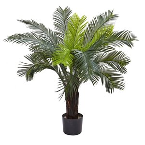 Nearly Natural Cycas Tree Uv Resistant - Indoor/Outdoor - 3-ft - Green