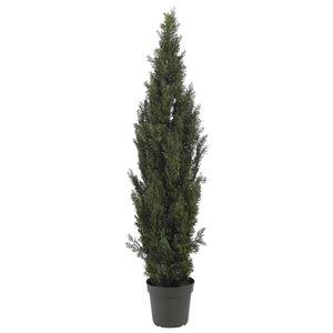 Nearly Natural Mini Cedar Pine Tree - Indoor/Outdoor - 6-ft - Green