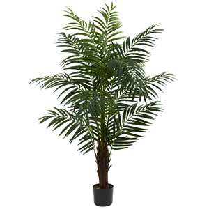 Nearly Natural Areca Palm Artificial Tree - 5-ft - Green