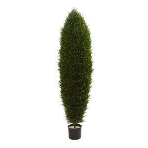 Nearly Natural Cyprus Tree - Indoor/Outdoor - 5-ft - Green