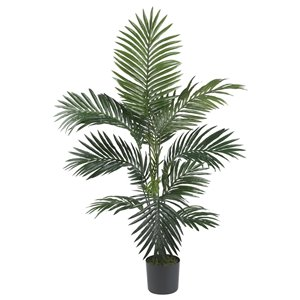 Nearly Natural Golden Cane Palm  Silk Tree - 6.5-ft - Green