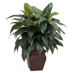 Nearly Natural Cordyline Artificial Plant with Decorative Vase - 35-in - Green