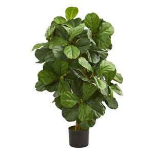 Nearly Natural Fiddle Leaf Artificial Tree - 3.5-ft - Green