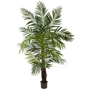 Nearly Natural Areca Palm Artificial Tree - 6-ft - Green