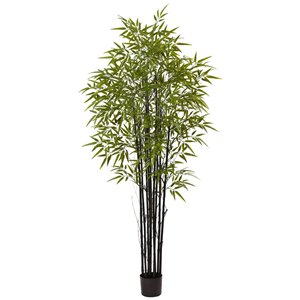 Nearly Natural Bamboo Artificial Tree - UV Resistant - 6-ft - Green