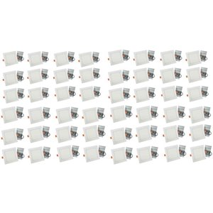 Lumières carrées semi-encastrées de 6 po de American Imaginations, aluminium, blanc, 48 mcx