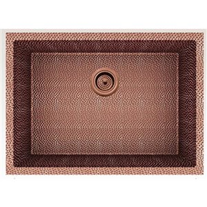 American Imaginations 18-in x 25-in Trendy Rose Copper Single Bowl Drop-In Residential Kitchen Sink