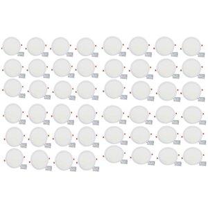 Lumières rondes semi-encastrées de 12 po de American Imaginations, aluminium, blanc, 48 mcx