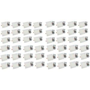 Lumières carrées semi-encastrées de 4 po de American Imaginations, aluminium, blanc, 48 mcx
