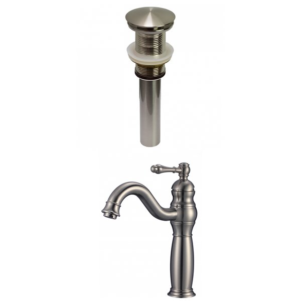 American Imaginations Classic Brushed Nickel 1 Handle Single Hole Bathroom Sink Faucet 7 44 In Ai 29480 Rona