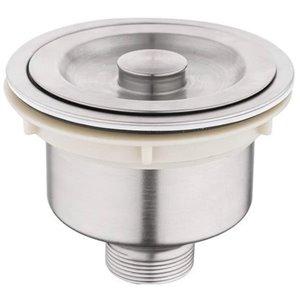 Kitchen Sink Strainer - 4.5-in - Stainless Steel - Brushed Nickel