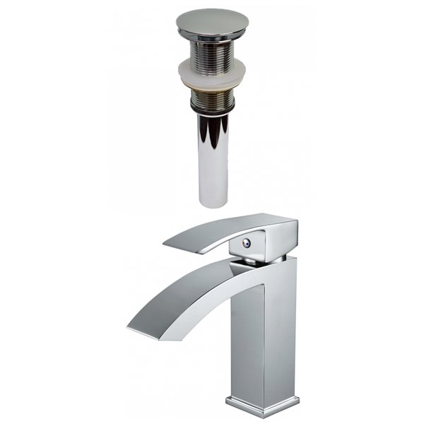American Imaginations Warm Polished Chrome 1 Handle Single Hole Bathroom Sink Faucet 4 8 In Ai 29502 Rona