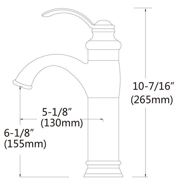 American Imaginations Brushed Nickel 1 Handle Single Hole Bathroom Sink Faucet 5 18 In Ai 28736 Rona