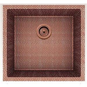 Évier de cuisine bol simple encastré de American Imaginations, 19 po x 18 po,  calibre 16, cuivre rose