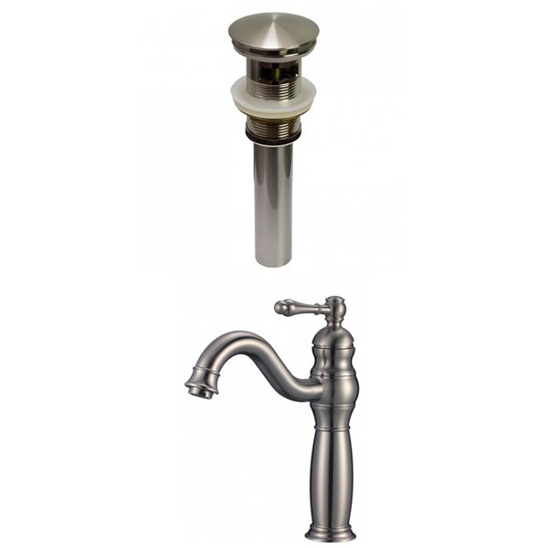 American Imaginations Stylish Brushed Nickel 1 Handle Single Hole Bathroom Sink Faucet 7 44 In Ai 29479 Rona