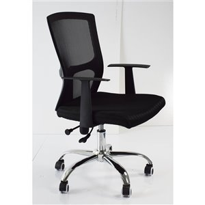American Imaginations Black Contemporary Manager Chair - 25.2-in x 37.8-in