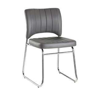 Mazin Industries Cervantes Contemporary Side Chair - Gray - Set of 2