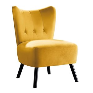 Chaise d'appoint moderne en velours Imani de Mazin Industries, jaune vif