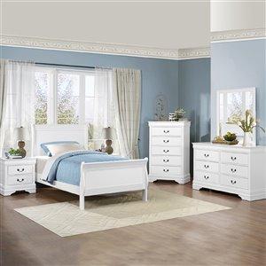 Ensemble de chambre à coucher grand format Mayville de HomeTrend, blanc, 6 pcs