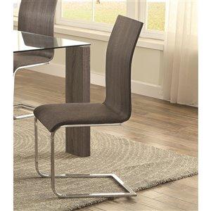 Mazin Industries Zeba Contemporary Side Chair - Chrome - Set of 4