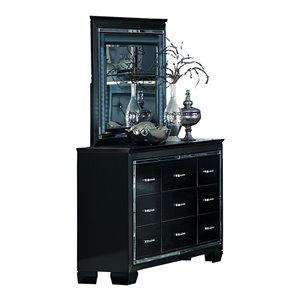 Commode avec miroir Allura de HomeTrend, 9 tiroirs, noir