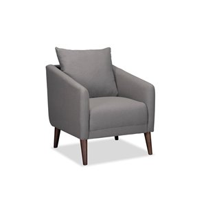 Mazin Industries Laurier Casual Polyester/Polyester Blend Accent Chair - Dark Gray