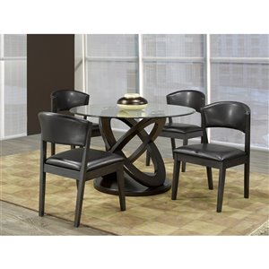 Mazin Industries The Sphere Transitional Side Chair - Gray - Set of 2