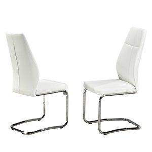 Chaises contemporaines Jason de HomeTrend, blanc, ensemble de 2