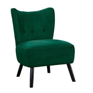 Mazin Industries Imani Modern Velvet Slipper Chair - Bold Green
