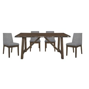 HomeTrend Whittaker Dining Set with Rectangular Table - Natural - 7-Piece