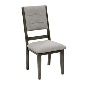 Mazin Industries Nisky Transitional Side Chair - Gray - Set of 2