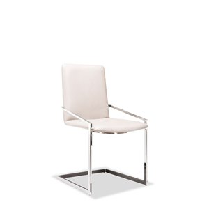 Mazin Industries Crystalle Contemporary Side Chair - White - Set of 2