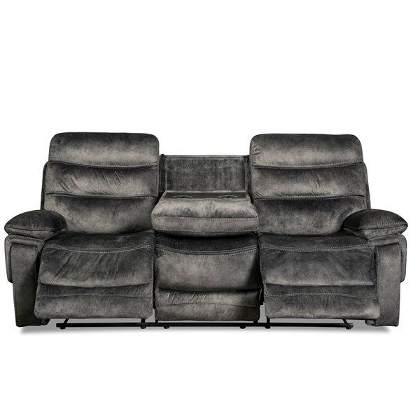Sofa moderne Maurice de Mazin Industries, polyester, gris ...