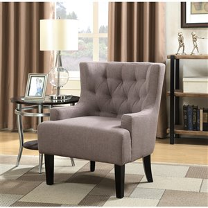 Mazin Industries Daria Modern Polyester/Polyester Blend Accent Chair - Gray